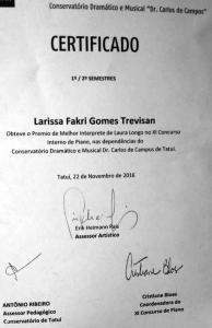 Prêmio melhor intérprete Laura Longo